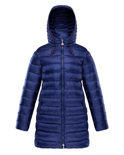 Girl's Jacinte Long Hooded Parka, Size 4-6
