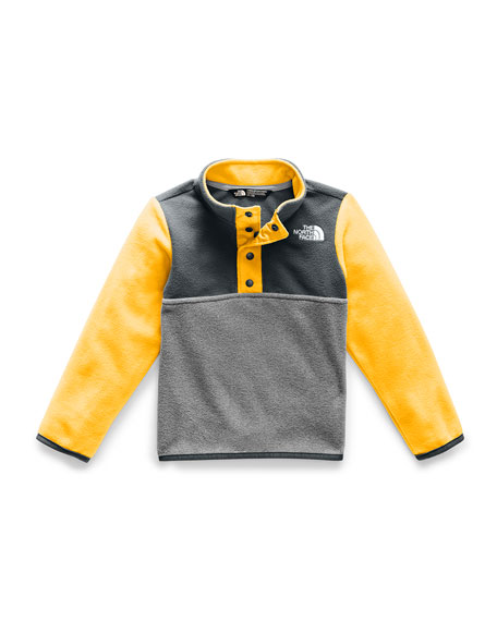The North Face Girl's Glacier Colorblock Snap Front Pullover Jacket, Size 2-4T