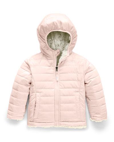 Girl's Reversible Mossbud Swirl Jacket  Size 2-4T