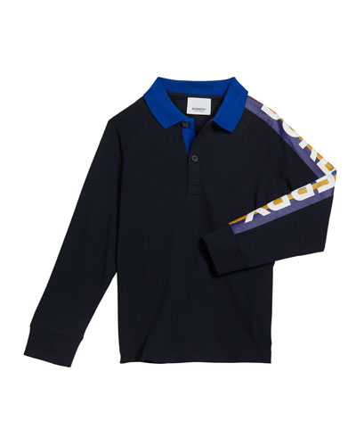 Boy's Duncan Polo Shirt w/ Logo Down Sleeve  Size 12M-2