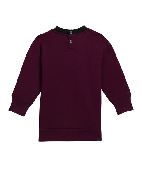 Burberry Girl's Letisha Striped Logo Sweatshirt Dress, Size 6M-2