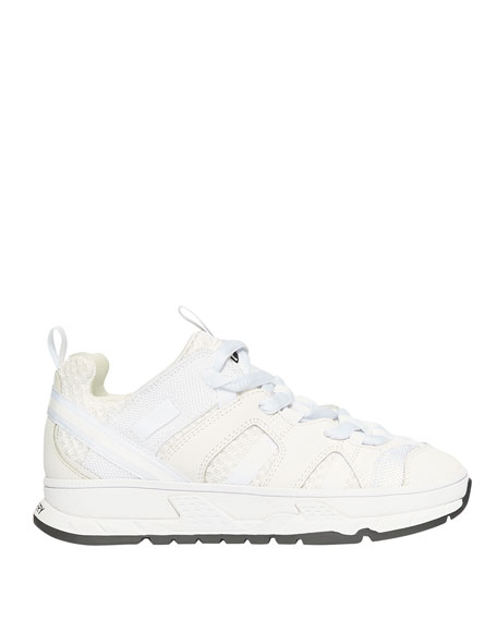 Image 2 of 4: Burberry Tonal Mixed-Media Chunky Sneakers, Toddler/Kids
