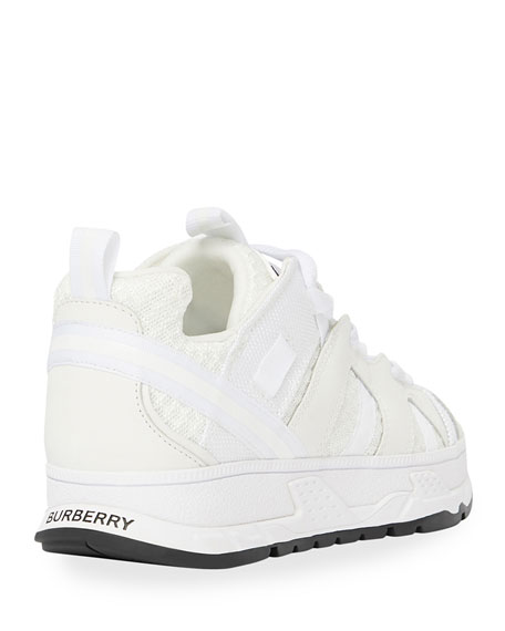 Image 3 of 4: Burberry Tonal Mixed-Media Chunky Sneakers, Toddler/Kids