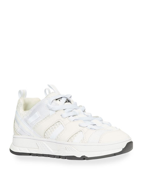 Image 1 of 4: Burberry Tonal Mixed-Media Chunky Sneakers, Toddler/Kids