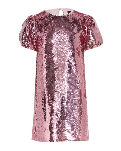 Girl's Harriet Sequin Shift Dress  Size 7-16