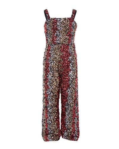 Girl's Lara Sequin Jumpsuit  Size 7-16