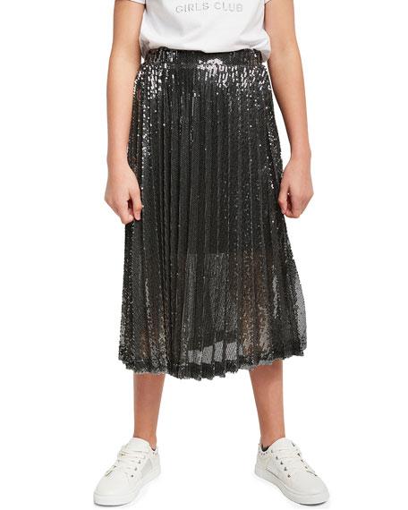 Bardot Junior Girls Iva Pleated Sequin Skirt, Size 7-16