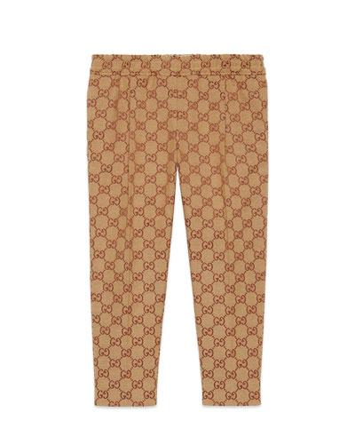 Boy's GG Print Straight Leg Pants  Size 4-12