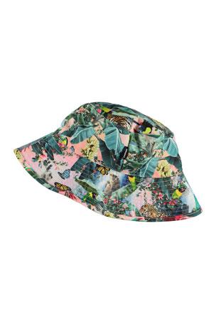 Molo Girl's Nadia Jungle Print Bucket Hat