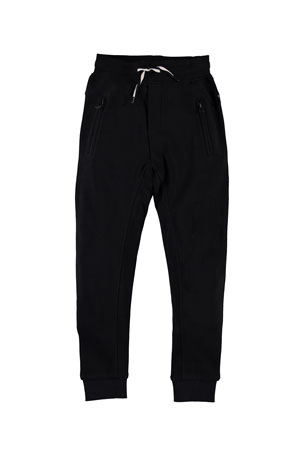 Molo Boy's Ash Solid Sweatpants, Size 4-12