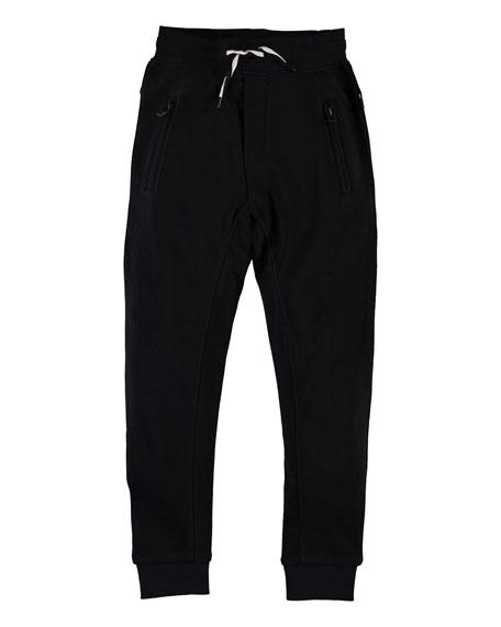 Molo Boy's Ash Solid Sweatpants, Size 4-12
