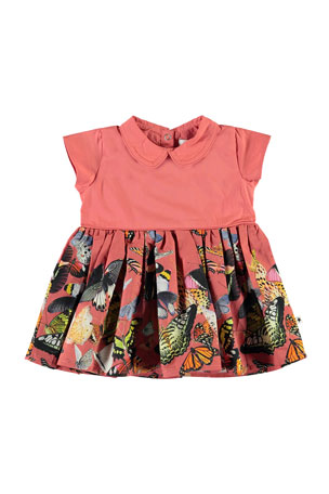 Molo Girl's Cinna Butterfly Print Dress, Size 12-24 Months