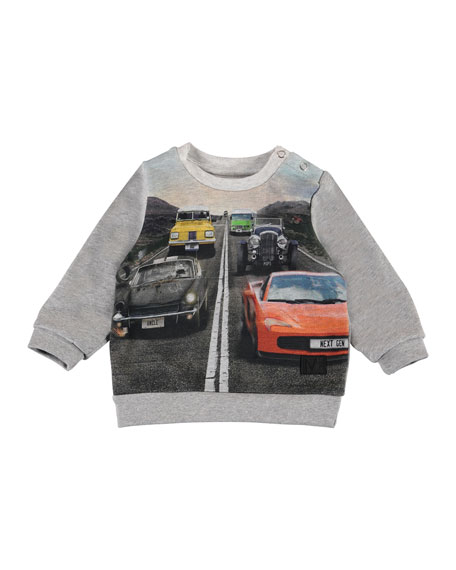 Image 1 of 2: Molo Boy's Drive Cars Print Tee, Size 6-24 Months