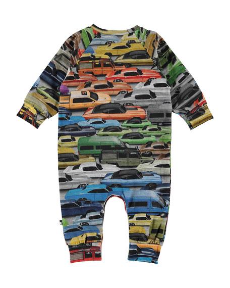 Molo Boy's Fairfax Car Print Coverall, Size 3-18 Months