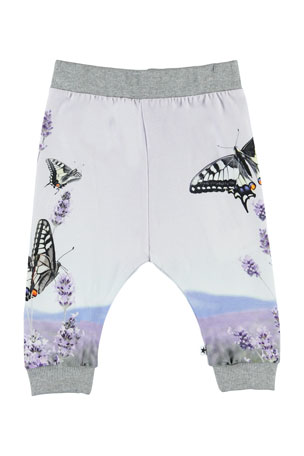 Girls pink pretty flower butterfly trousers‎ Only 12-18Months left