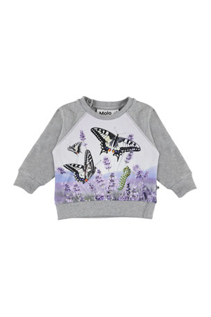Molo Girl's Elsa Butterfly Print Top, Size 6-24 Months