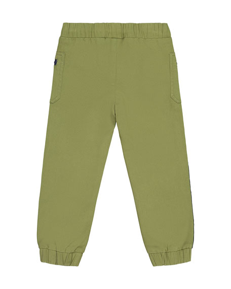 Andy & Evan Boy's Side Tape Twill Joggers, Size 2-7