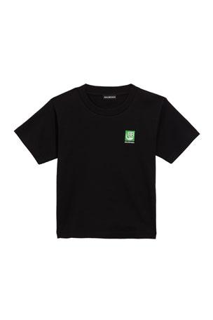Balenciaga Kid's Eco Loco Short-Sleeve T-Shirt, Size 4-10
