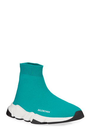 Balenciaga Speed Sock Sneakers, Toddler/Kids, Turquoise