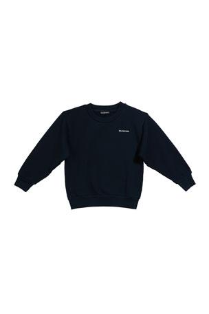 Balenciaga Kid's Logo Sweatshirt, Size 4-10