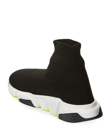 Image 4 of 4: Balenciaga Speed Sock Sneakers with Tricolor Sole, Toddler/Kids