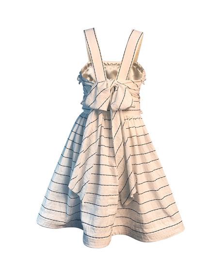 Helena Girl's Wavy Striped Sun Dress, Size 2-6