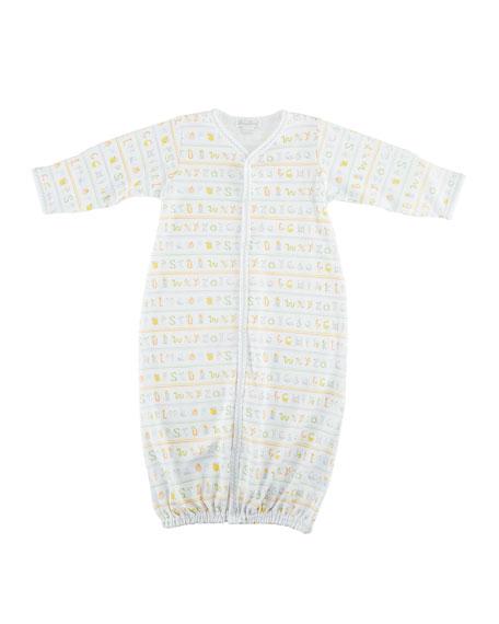 Kissy Kissy Alphabet ABCs Convertible Gown, Size Newborn-S