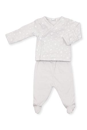 Toddler Baby Girls TEE SHIRT PANTS SET White PINK Hearts NB 0-3 3-6 12 18 24 MO