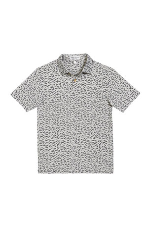 Peter Millar Boy's Bird Airplanes Print Polo Shirt, Size XXS-XL