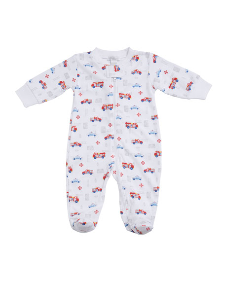 Kissy Kissy Rescue Team Pima Zip Footie Playsuit, Size Newborn-9 Months