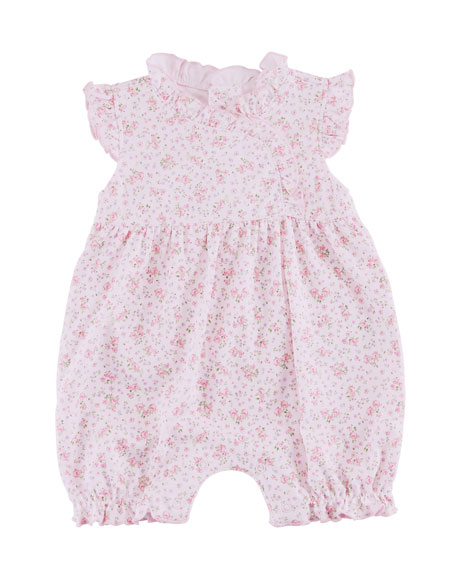 Kissy Kissy Dusty Rose Pima Ruffle Playsuit, Size 3-24 Months