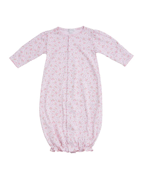 Kissy Kissy Dusty Rose Pima Convertible Gown, Size Newborn-S
