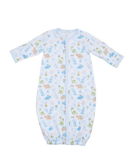 Kissy Kissy Dino Dash Pima Convertible Gown, Size Newborn-S