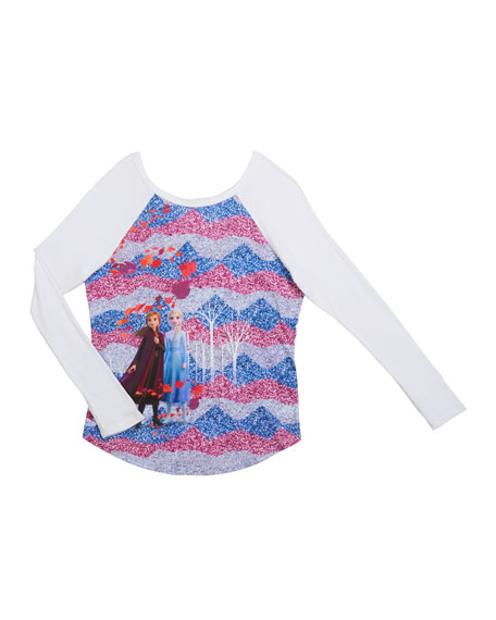 Terez Frozen 2 Enchanted Forest Baseball Tee, Size 4-6X
