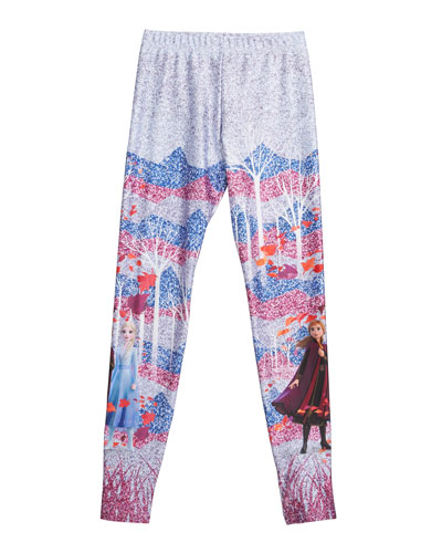 Frozen 2 Enchanted Frozen Leggings  Size 4-6X