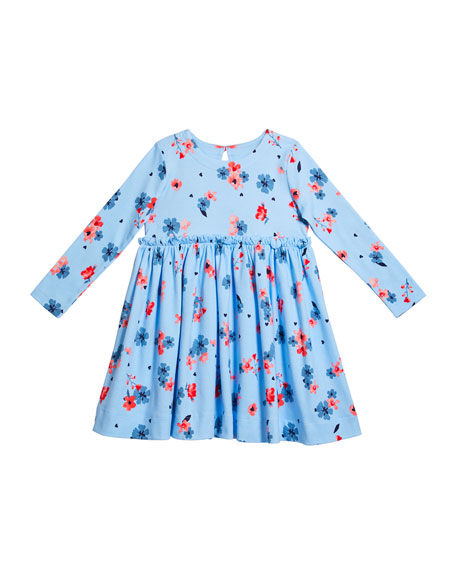 Joules Girl's Lillian Horse Print Ruffle Layered Skirt, Size 2-6
