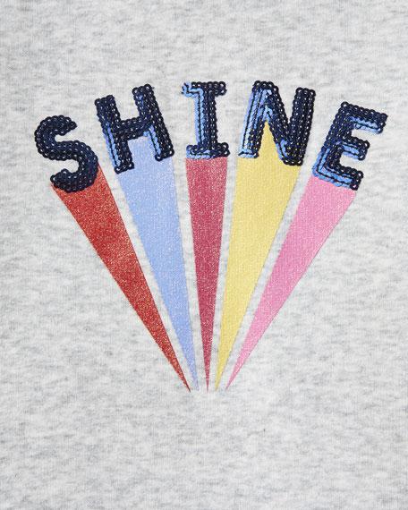 Joules Girl's Viola Shine Striped-Trim Sweatshirt, Size 4-10