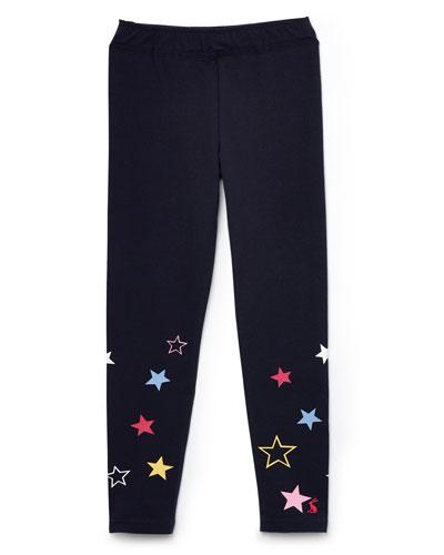 Girl's Emilia Luxe Star Print Leggings  Size 4-10