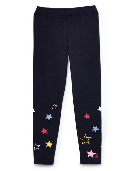 Joules Girl's Emilia Luxe Star Print Leggings, Size 4-10
