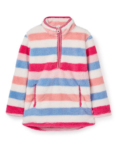 Joules Girl's Ellie Stripe Fleece Pullover, Size 2-10