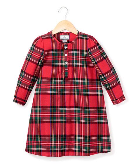Petite Plume Beatrice Tartan Plaid Nightgown, Size 6M-14