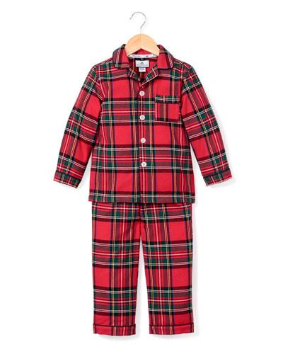 Imperial Tartan Plaid Two-Piece Pajama Set  Size 6M-14