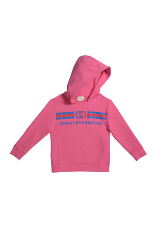 Gucci Girl's Friendly with Monsters Logo Fleece Hoodie, Size 4-12