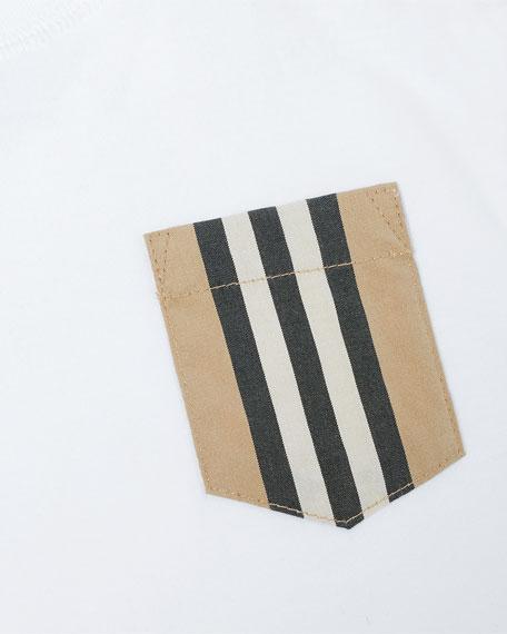 Burberry Boy's Icon Stripe Pocket Tee, Size 6M-2