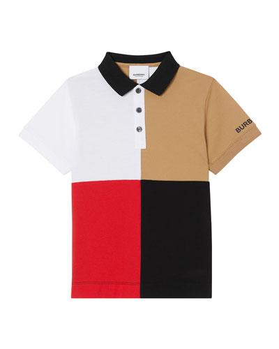 Boy's Monty Colorblock Short-Sleeve Polo Shirt  Size 3-14
