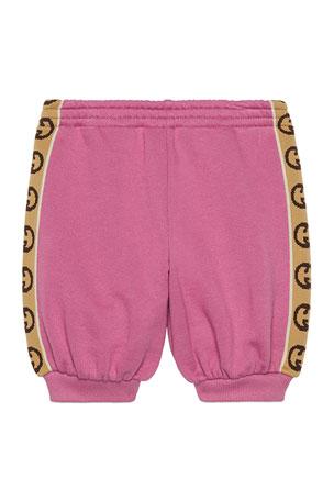 Gold Retro Shorts w//Red trim and Rainbow socks Small