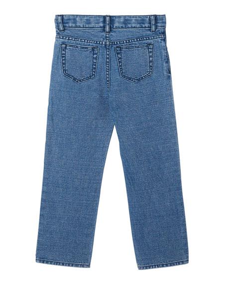 Burberry Boy's Logo Print Relaxed Denim Jeans, Size 3-14