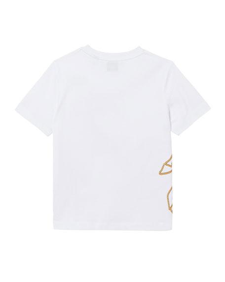 Burberry Girl's Chain Unicorn Short-Sleeve Tee, Size 3-14