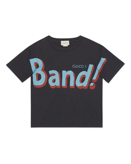 Gucci Girl's Vintage Band Graphic Jersey T-Shirt, Size 4-12