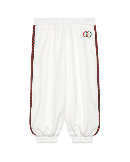 Gucci Girl's Jogging Pants with Side Piping, Size 4-12
